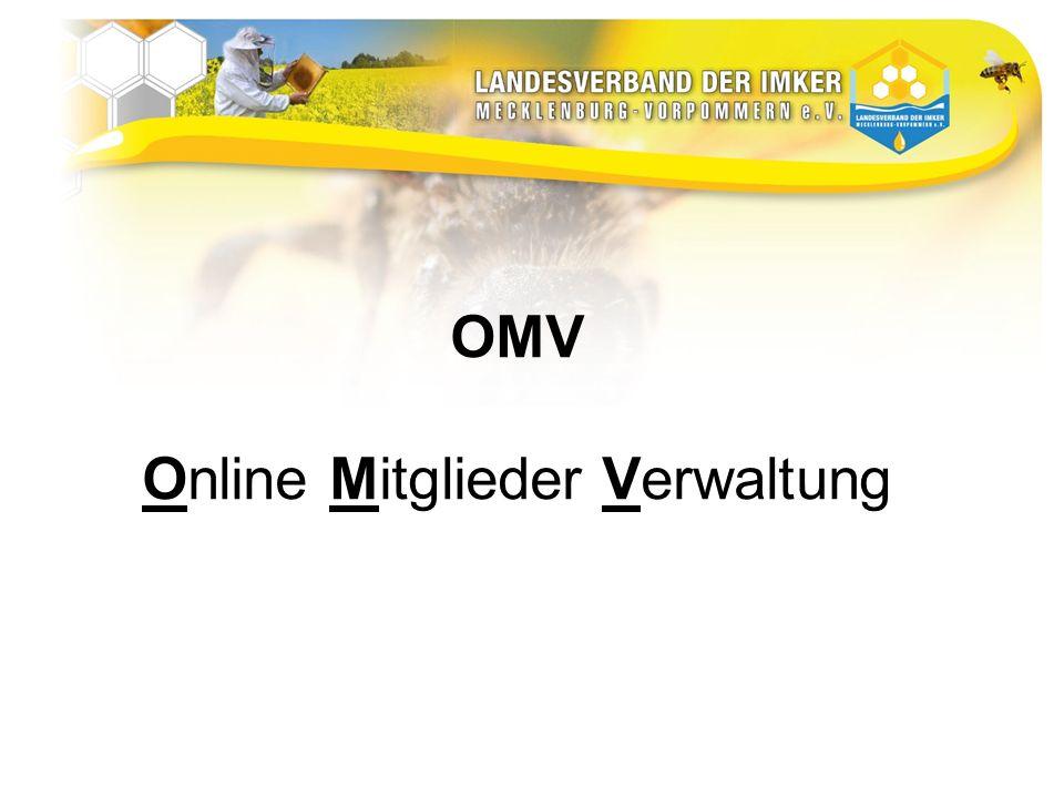 OMV Online Mitglieder Verwaltung