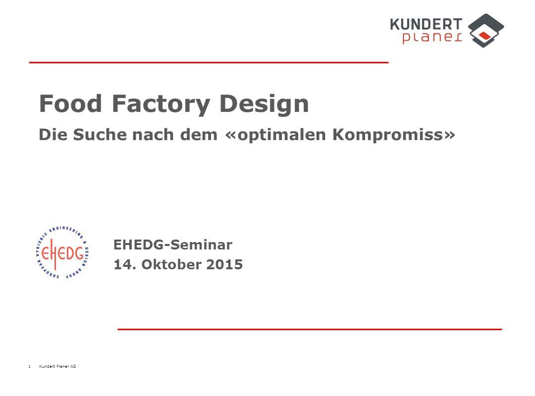 1 Kundert Planer AG Food Factory Design Die Suche nach dem «optimalen Kompromiss» EHEDG-Seminar 14. Oktober 2015