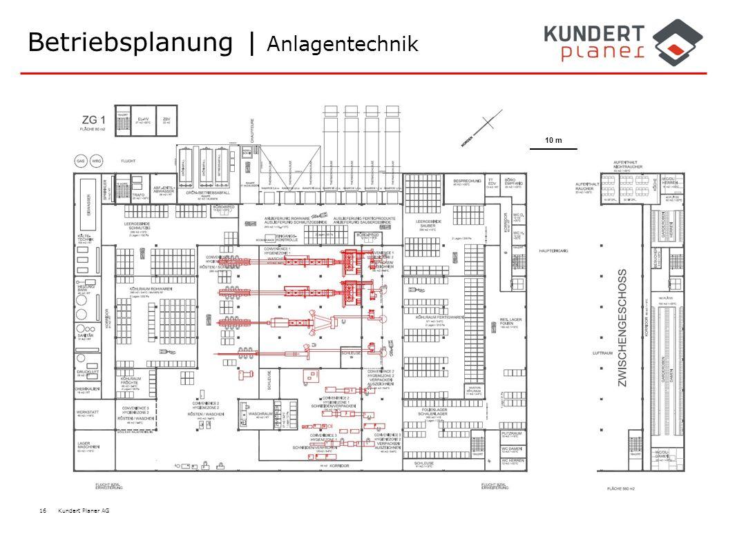 16 Kundert Planer AG Betriebsplanung | Anlagentechnik 10 m