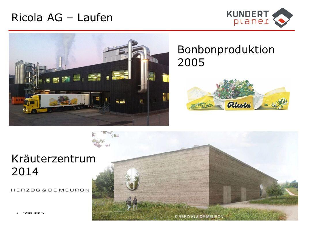 8 Kundert Planer AG Ricola AG – Laufen Bonbonproduktion 2005 Kräuterzentrum 2014