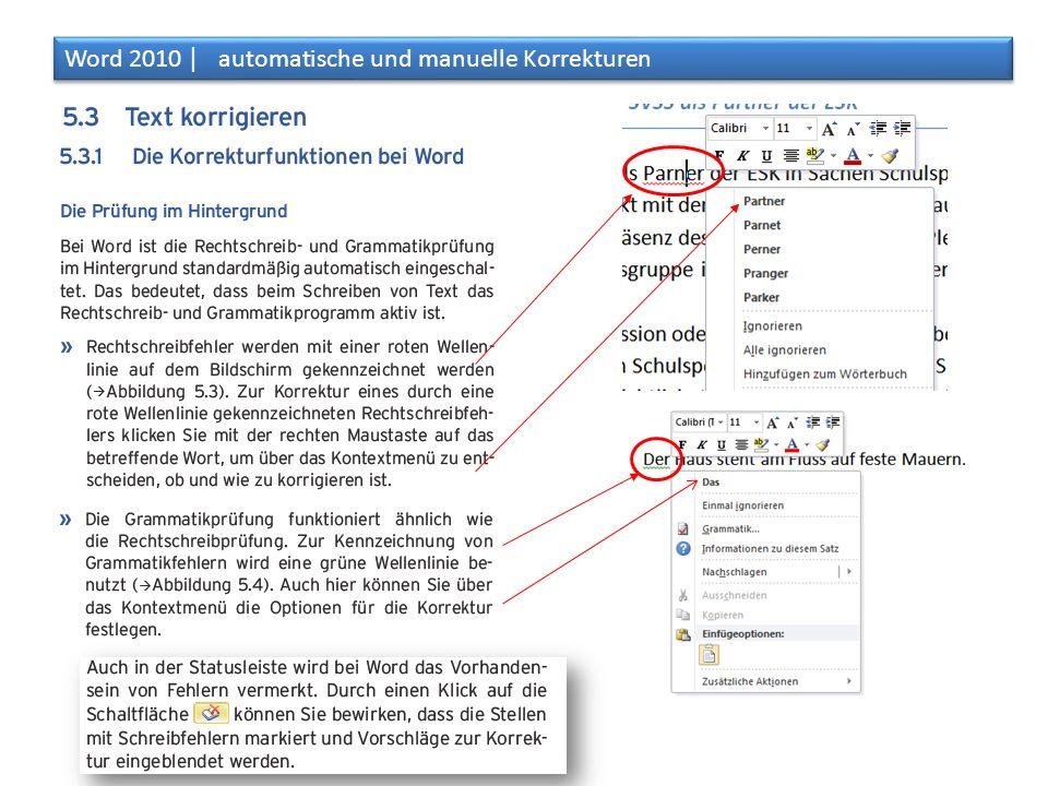 Word 2010 │ automatische und manuelle Korrekturen