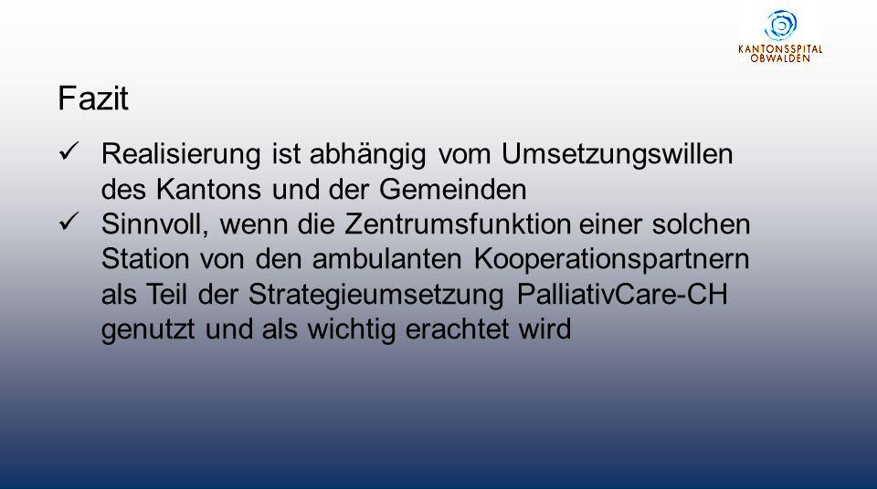 Realisierung einer gemischten Station mit PC ist aus unserer Sicht für die Zukunft des Kantons wichtig und wird deshalb in die neue Strategie des Spitals aufgenommen.