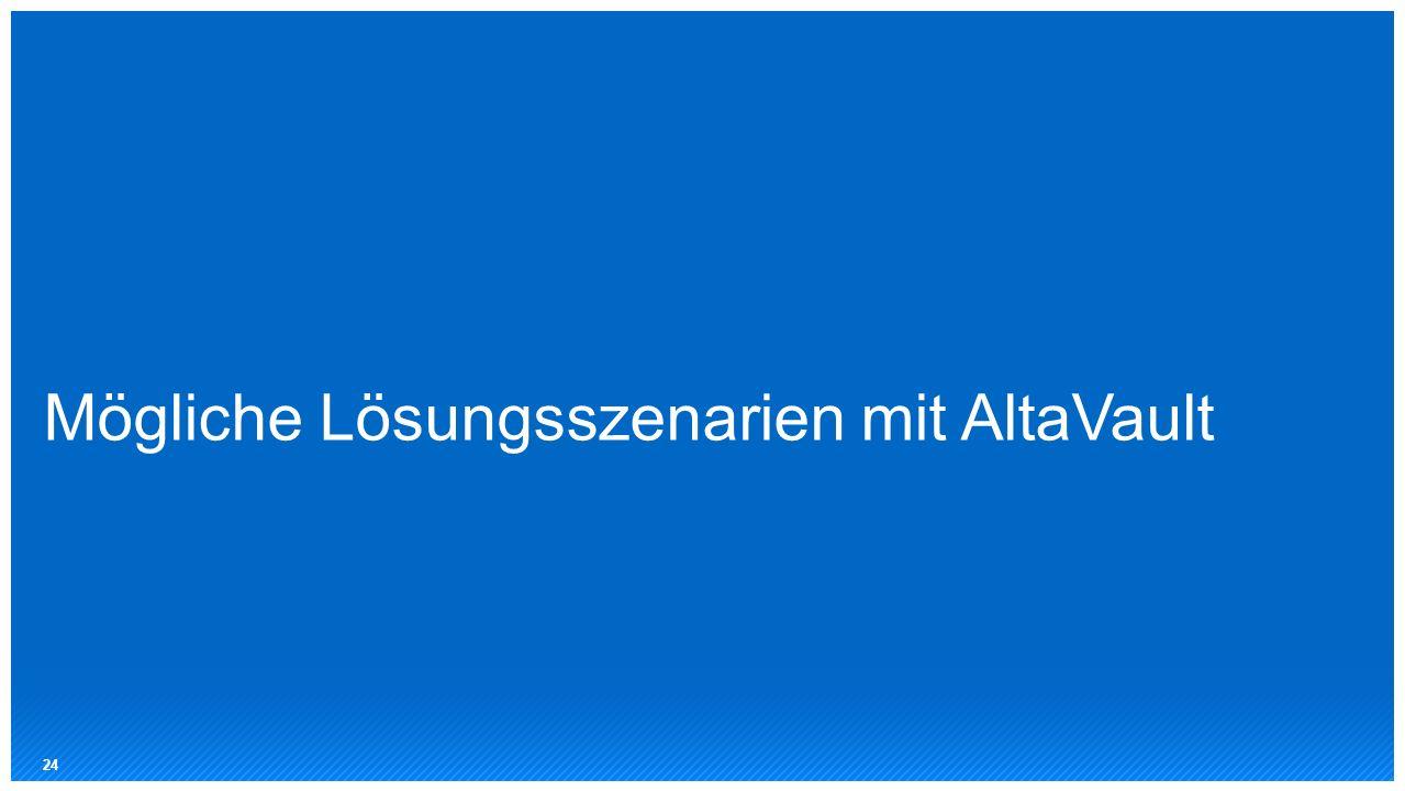 Mögliche Lösungsszenarien mit AltaVault 24