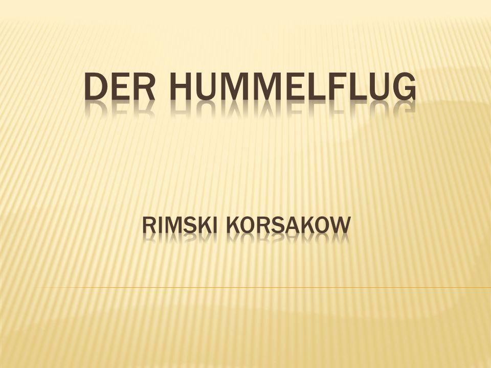  Musikalisches Zwischenspiel einer Oper  Komponiert von Rimski Korsakow  Teil eines Märchens  Chromatisch gesetzte Sechzehntelnoten im 2/4 Takt  Die Metronomangabe: = 180