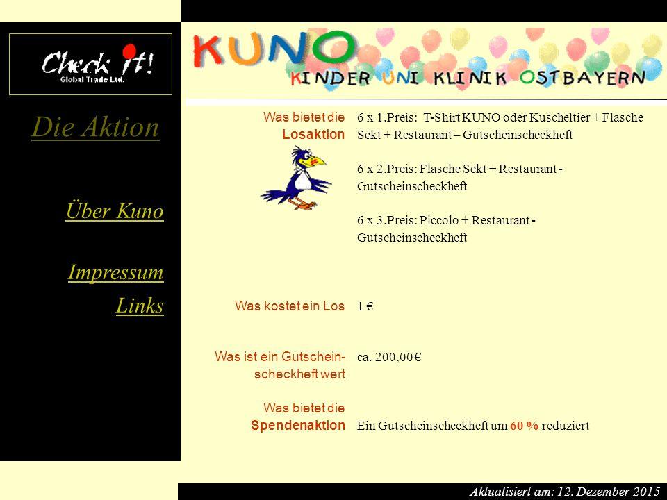 Über Kuno Impressum Links Die Aktion 12.12.20151 Die Firma Check it.