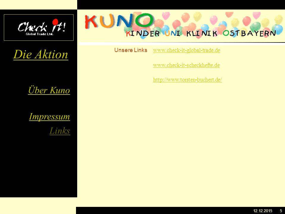 Über Kuno Impressum Links Die Aktion 12.12.20154 Herausgeber Tel.