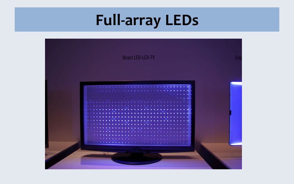 Full-array LEDs