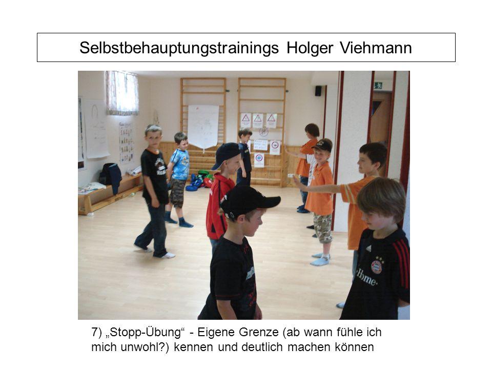 """Selbstbehauptungstrainings Holger Viehmann 7) """"Stopp-Übung - Eigene Grenze (ab wann fühle ich mich unwohl ) kennen und deutlich machen können"""