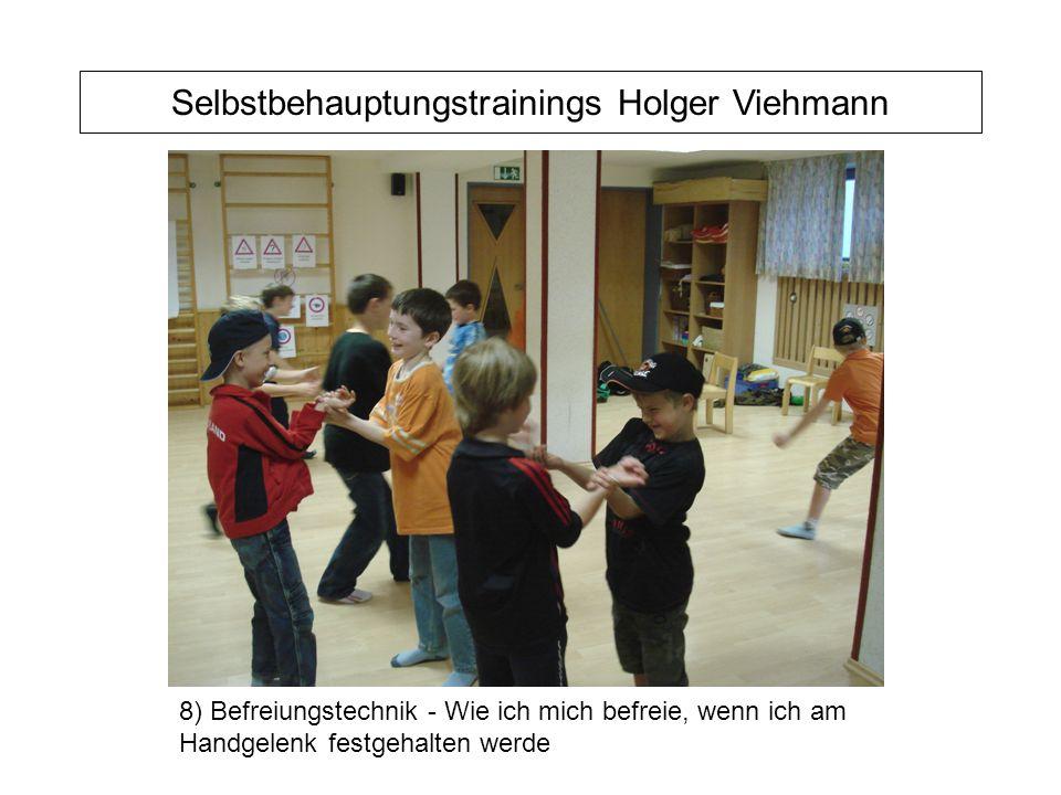Selbstbehauptungstrainings Holger Viehmann 8) Befreiungstechnik - Wie ich mich befreie, wenn ich am Handgelenk festgehalten werde