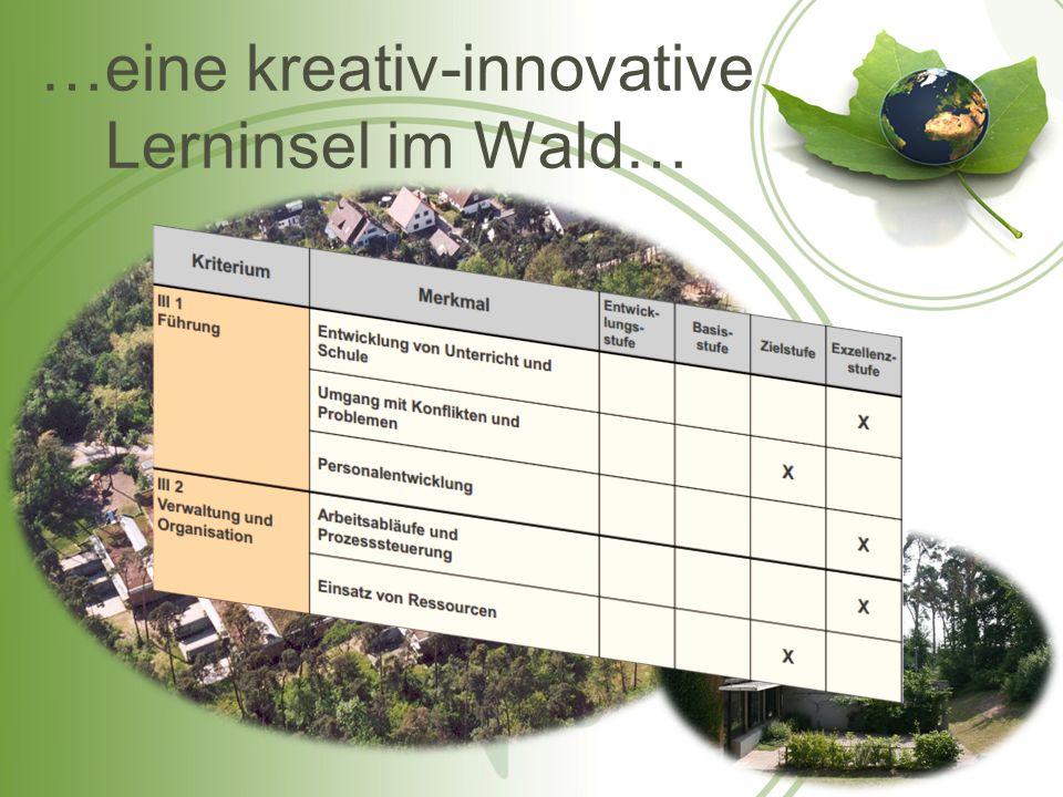 …eine kreativ-innovative Lerninsel im Wald…