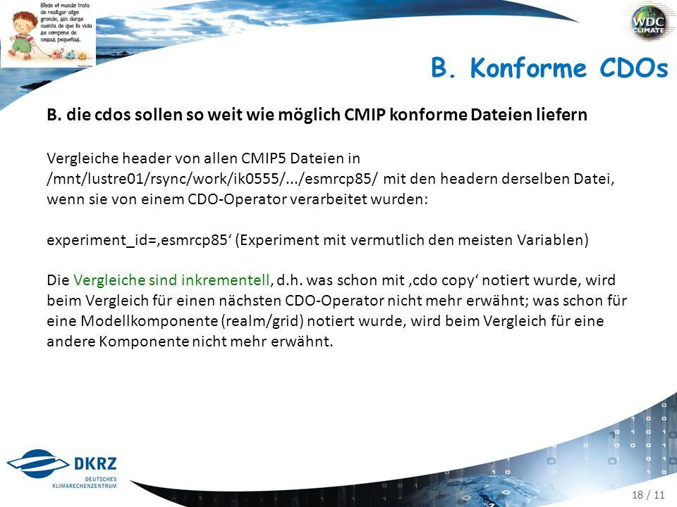 18 / 11 B. Konforme CDOs B.