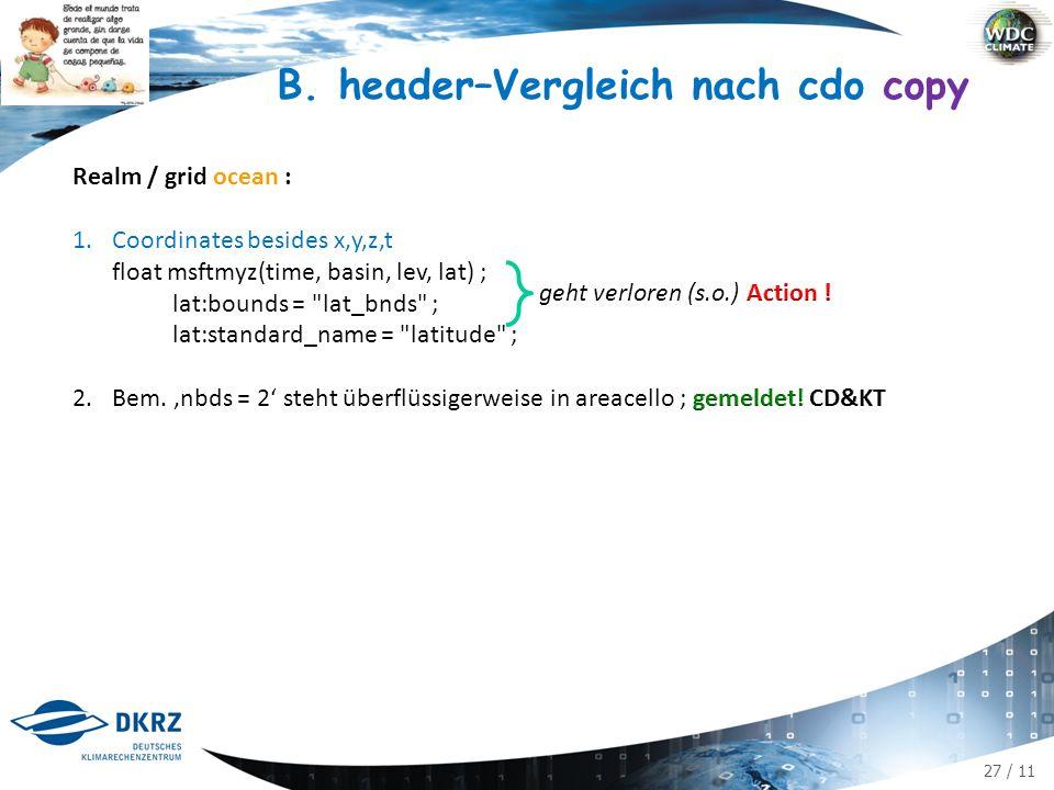 27 / 11 B. header–Vergleich nach cdo copy