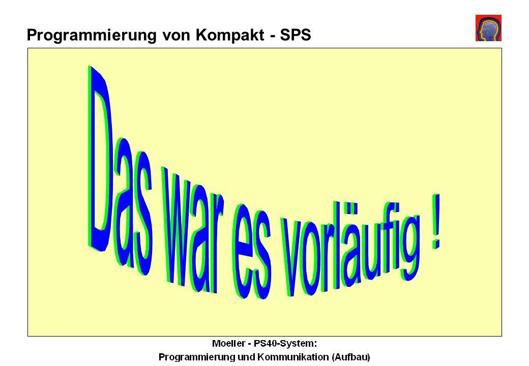 Programmierung von Kompakt - SPS PS4-150/-200 max.