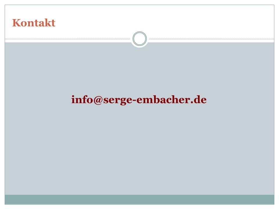 Kontakt info@serge-embacher.de