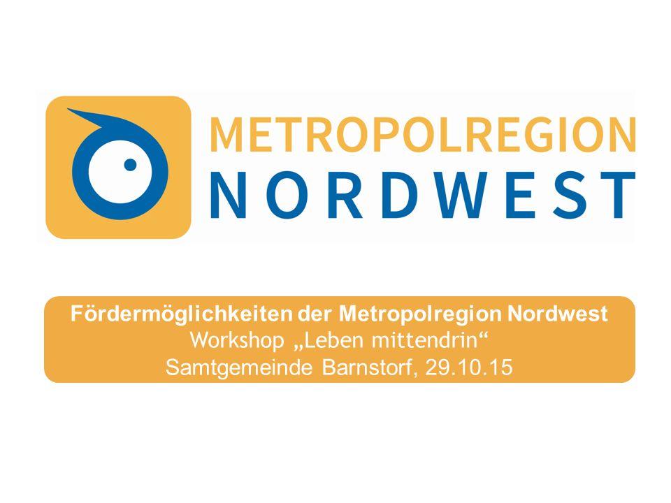 Metropolregion Nordwest 2  Vernetzung und Zusammenarbeit  Gemeinsames Marketing für den Wirtschafts- und Wissenschaftsraum und den Standortvorteil der hohen Lebensqualität  Lobbying für regional wichtige Infrastrukturmaßnahmen  Ausbau regional bedeutsamer Zukunftsfelder Ziele und Aufgaben