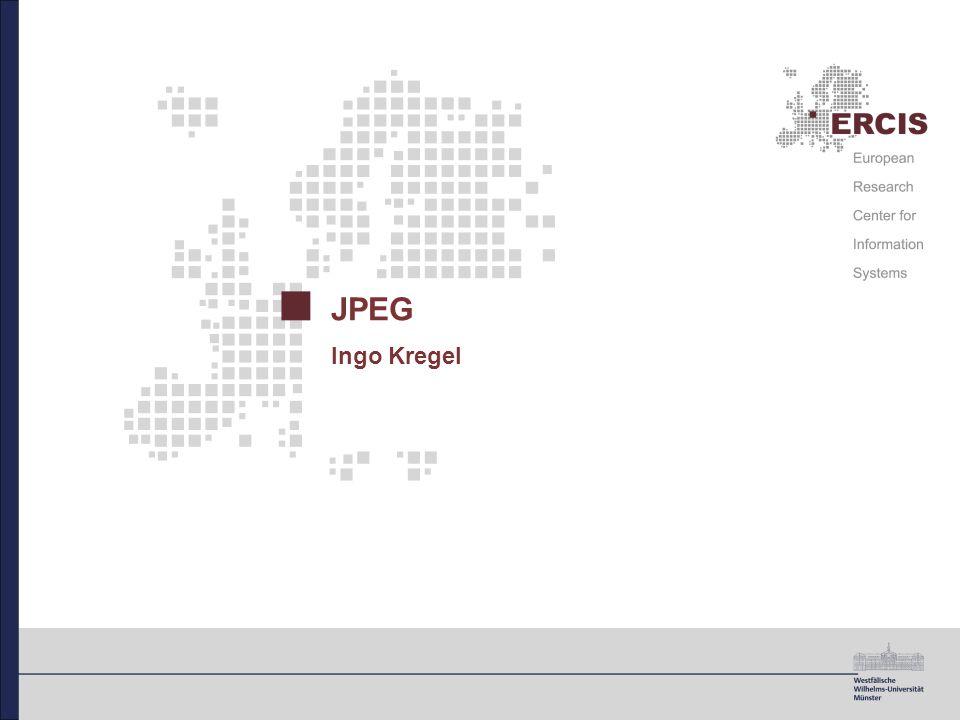 2 JPEG Gliederung 1.Einleitung und Überblick 2.Visuelle Wahrnehmung und Farbräume 3.Angewandte Komprimierungsverfahren 4.Die JPEG-Modi 5.Ausblick