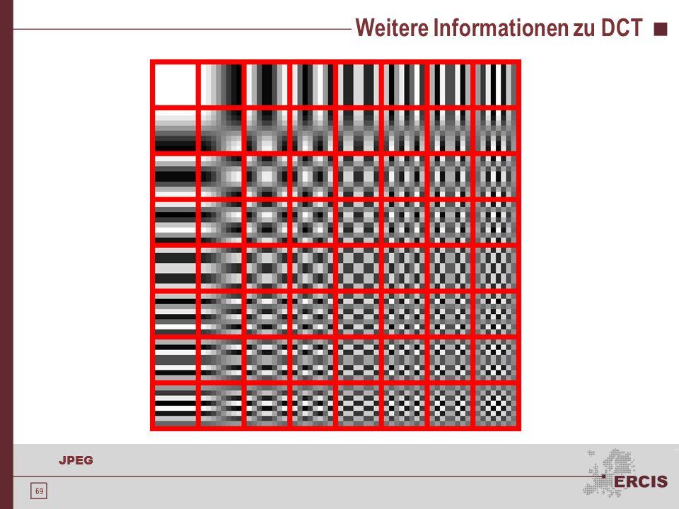 69 JPEG Weitere Informationen zu DCT -