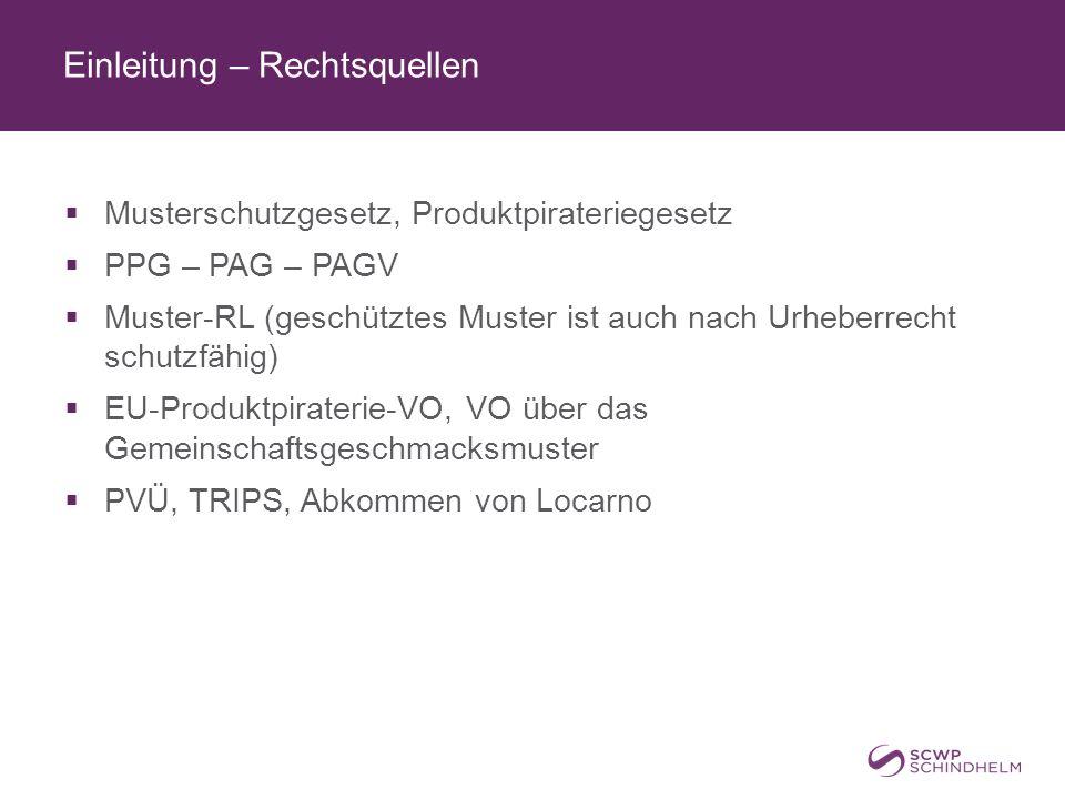 Einleitung – Behörden  ÖPA (Rechtsabteilung und Nichtigkeitsabteilung des Patentamts)  HG Wien für Klagen aus dem MuSchG  LG für Strafsachen Wien für Strafsachen aus dem MuSchG  Rechtsmittelinstanzen: OLG Wien und OGH