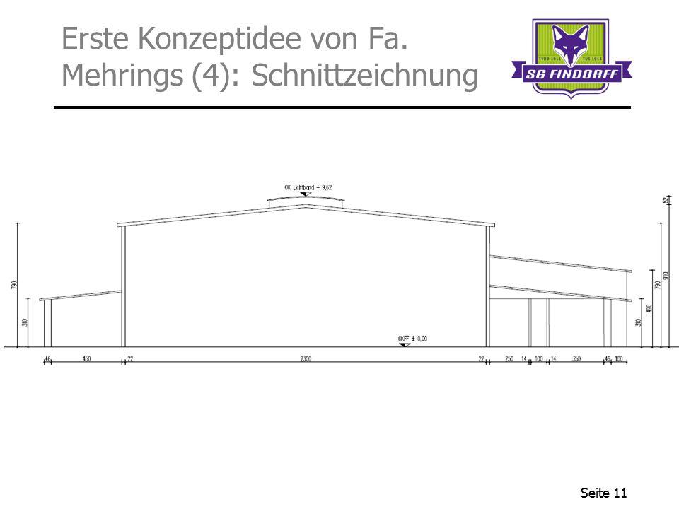 Seite 11 Erste Konzeptidee von Fa. Mehrings (4): Schnittzeichnung