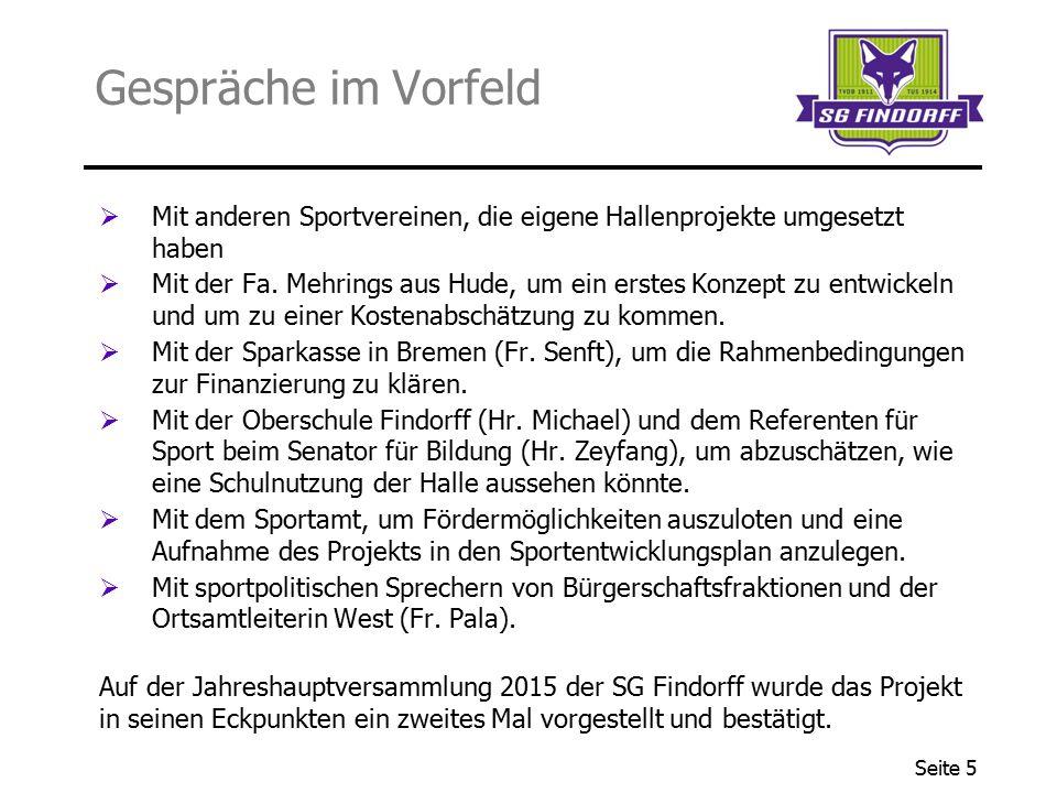 Seite 6 Die Bezirkssportanlage Findorff an der Nürnberger Str.
