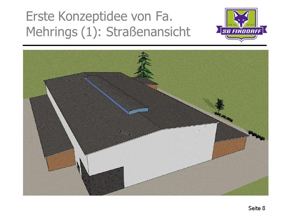 Seite 8 Erste Konzeptidee von Fa. Mehrings (1): Straßenansicht