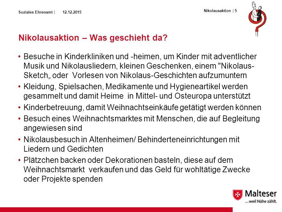 Soziales Ehrenamt | Nikolausaktion – Was geschieht da.