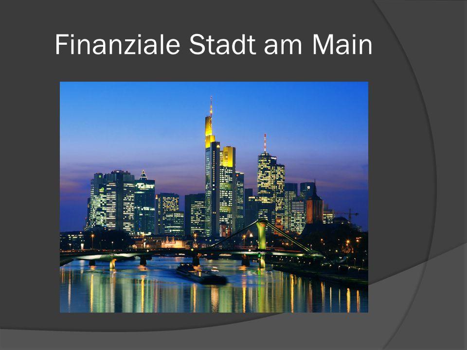 Finanziale Stadt am Main