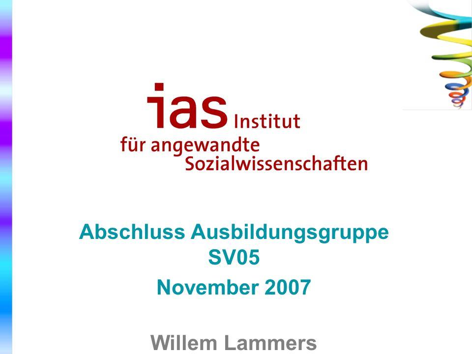 Abschluss Ausbildungsgruppe SV05 November 2007 Willem Lammers mit Hans Ruijs
