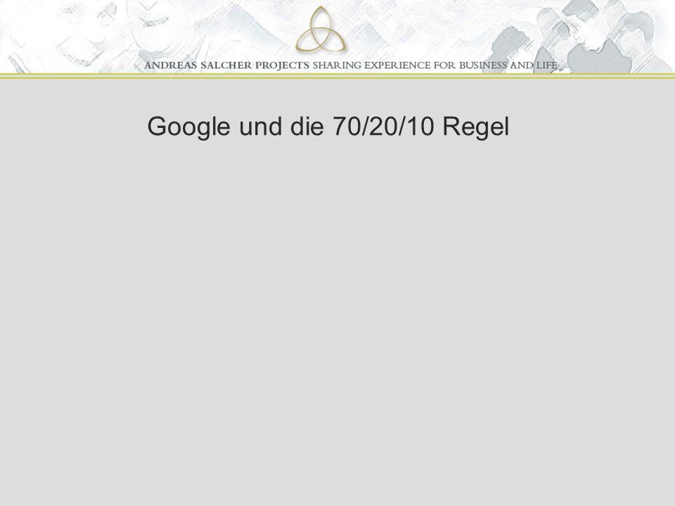 Google und die 70/20/10 Regel
