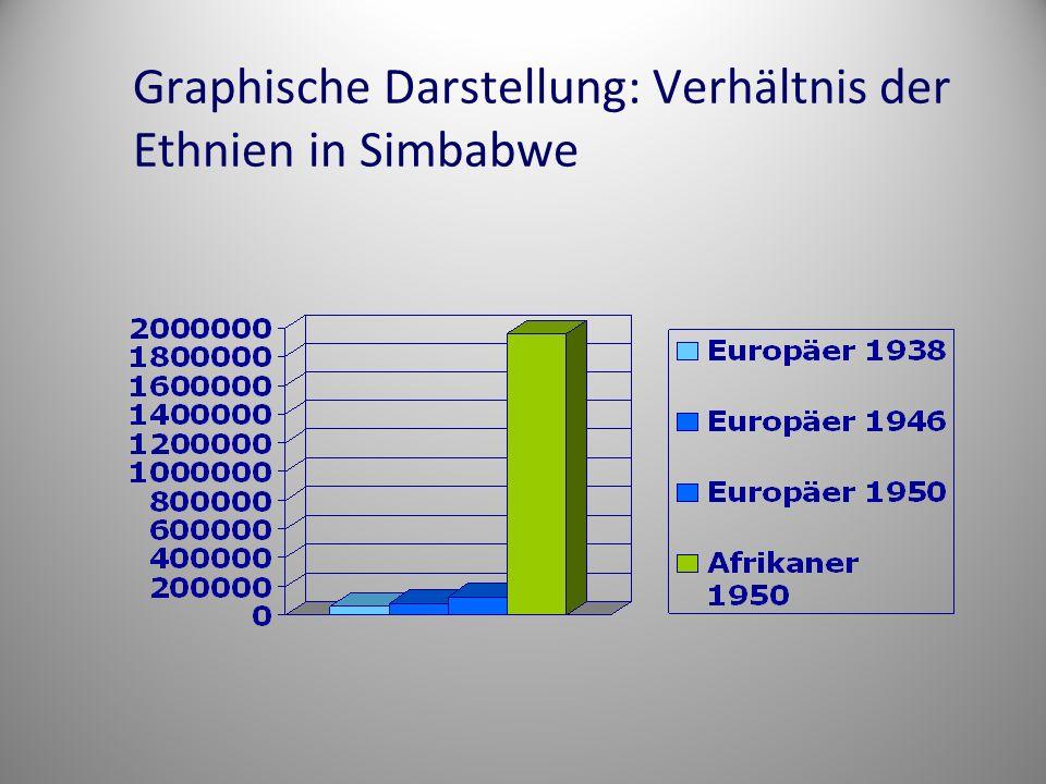 Graphische Darstellung: Verhältnis der Ethnien in Simbabwe