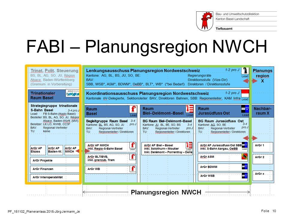 PF_151102_Planeranlass 2015-Jörg Jermann_Je Folie 10 FABI – Planungsregion NWCH