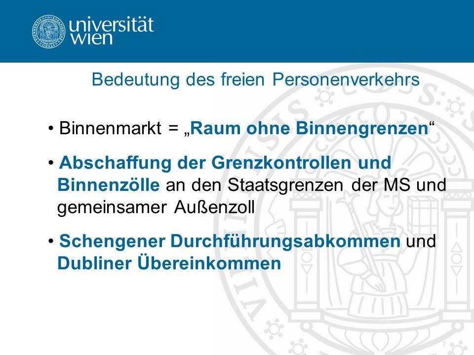 8 Gemeinsame Struktur der Grundfreiheiten I Allgemeines Diskriminierungsverbot in Art.