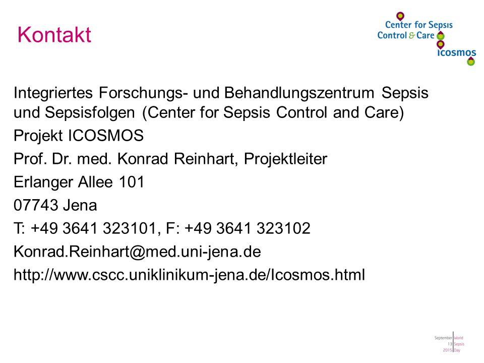 Kontakt Integriertes Forschungs- und Behandlungszentrum Sepsis und Sepsisfolgen (Center for Sepsis Control and Care) Projekt ICOSMOS Prof.