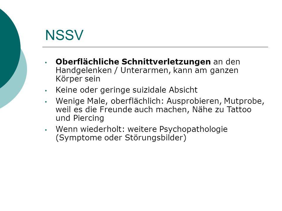 Verstärker von NSSV - Studie  N= 30, m Alter: 17,3; SD: 1.9.