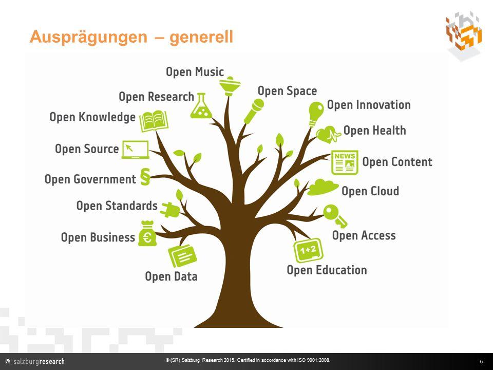 © Ausprägungen – generell 6 © (SR) Salzburg Research 2015.
