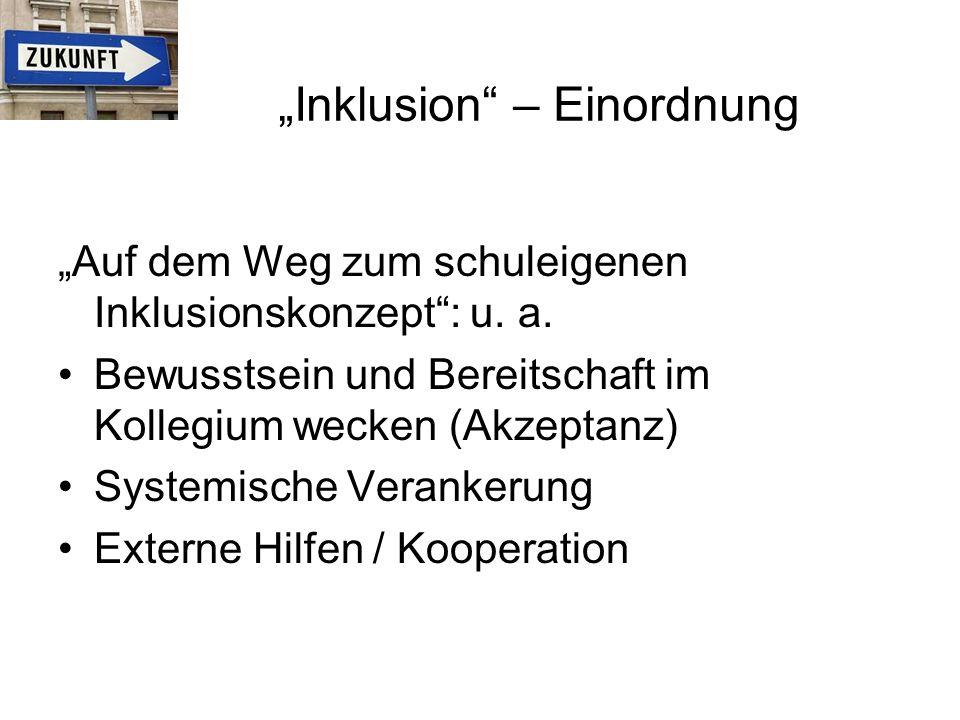 """""""Auf dem Weg zum schuleigenen Inklusionskonzept : u."""
