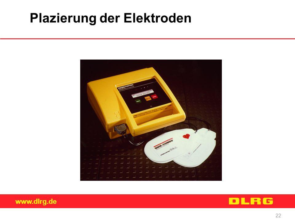 www.dlrg.de 22 Plazierung der Elektroden