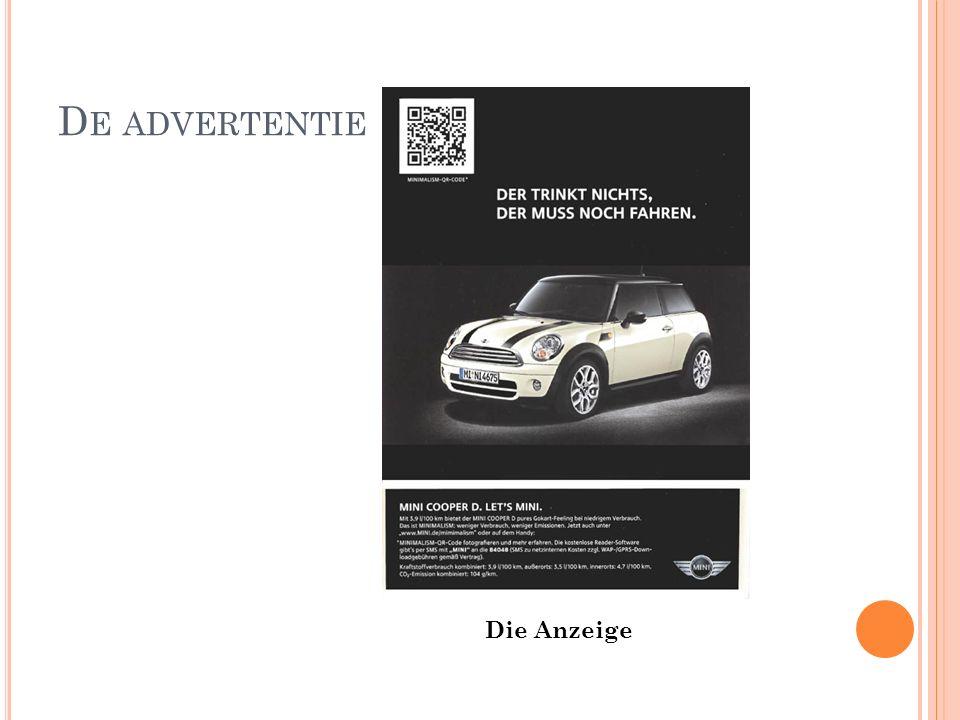 D E ADVERTENTIE Die Anzeige