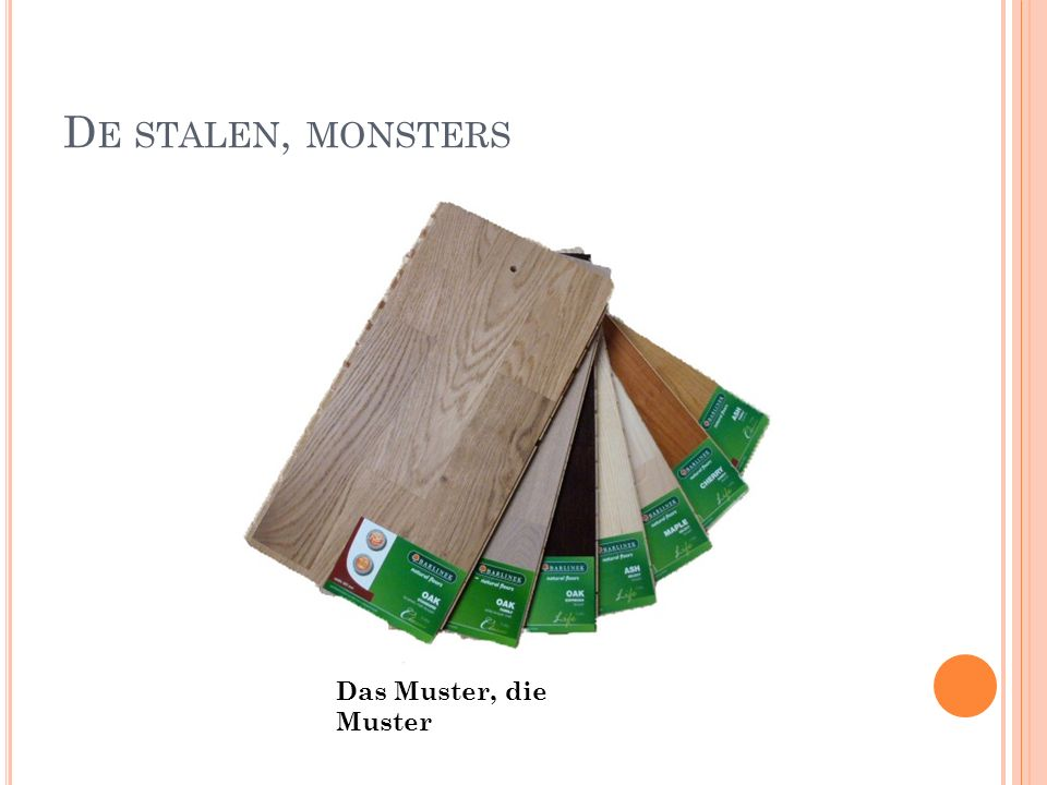 D E STALEN, MONSTERS Das Muster, die Muster