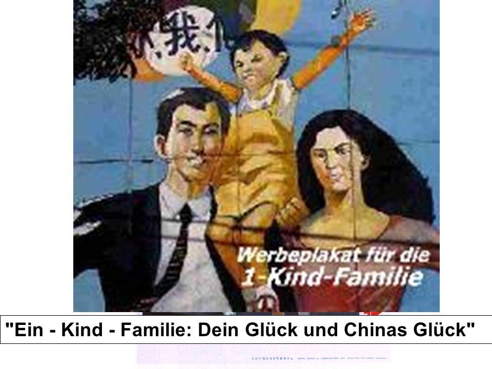 """""""Heiratet später und habt weniger Kinder!"""" (China)"""