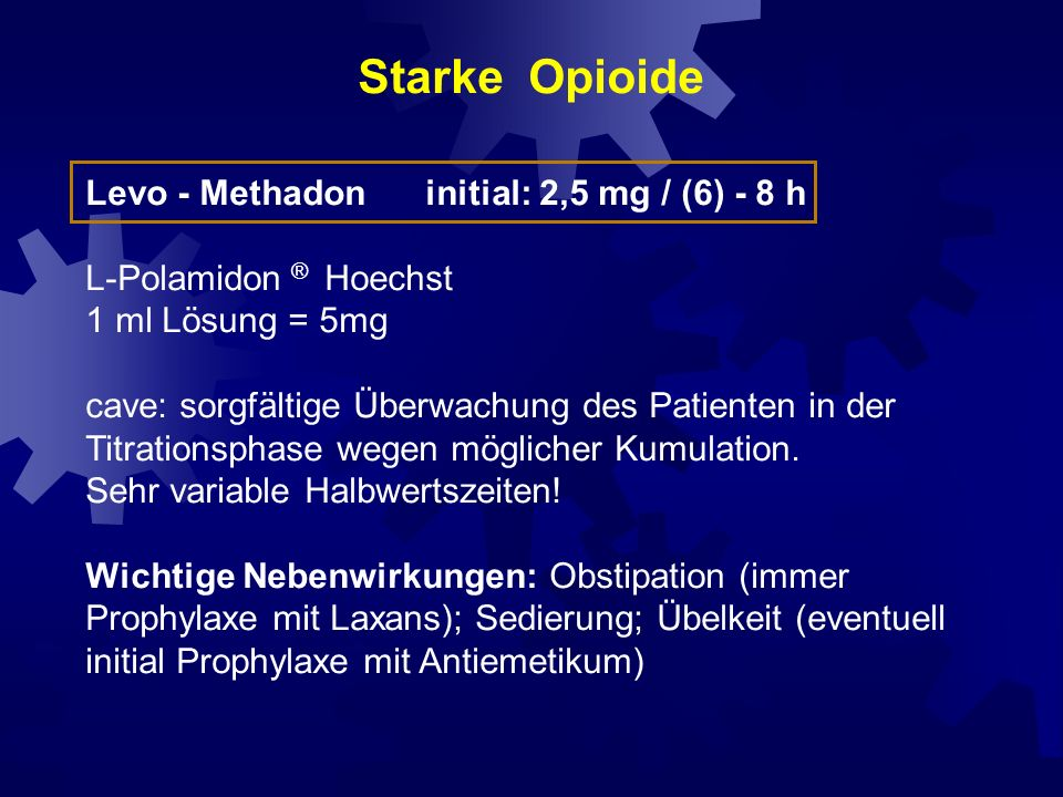 Äquianalgetische Dosierungen unterschiedlicher Opioide