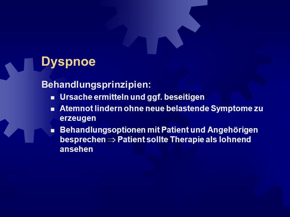 Dyspnoe Auffälligkeiten: erhöhte Atemarbeit (z.B.