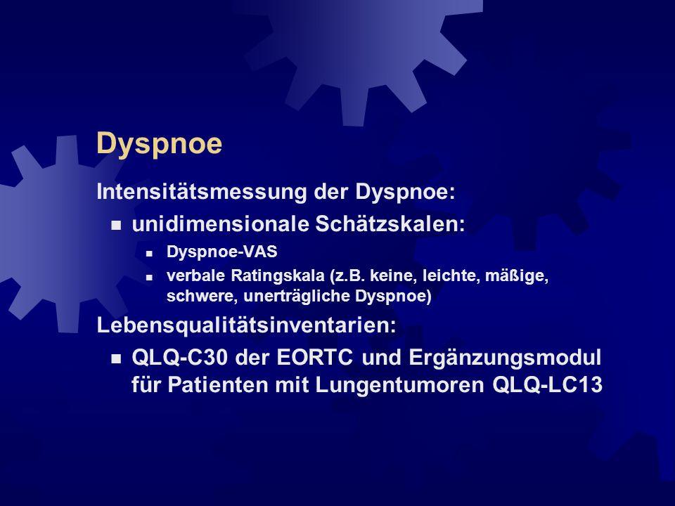 Dyspnoe Behandlungsprinzipien: Ursache ermitteln und ggf.