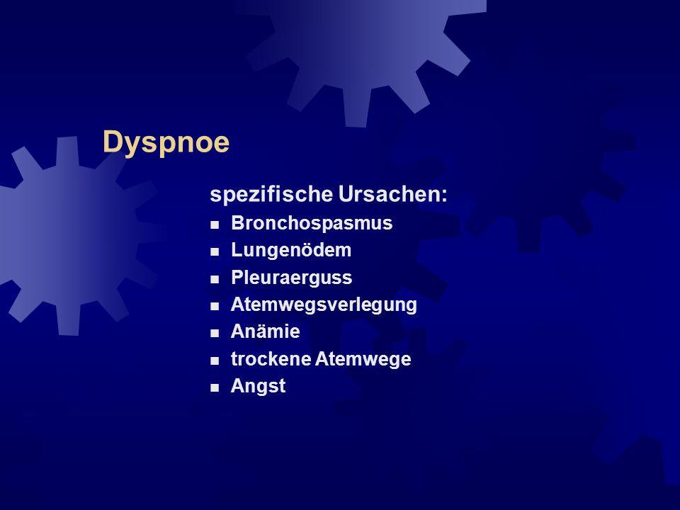 Dyspnoe Intensitätsmessung der Dyspnoe: unidimensionale Schätzskalen: Dyspnoe-VAS verbale Ratingskala (z.B.