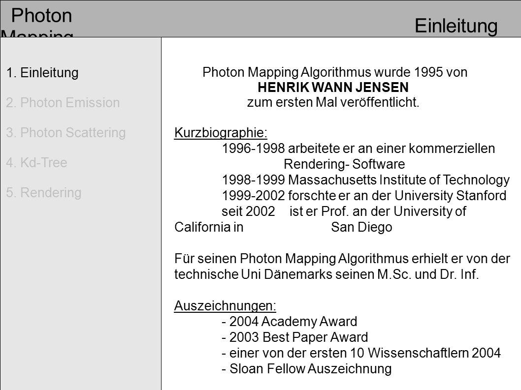 1. Einleitung 2. Photon Emission 3. Photon Scattering 4.