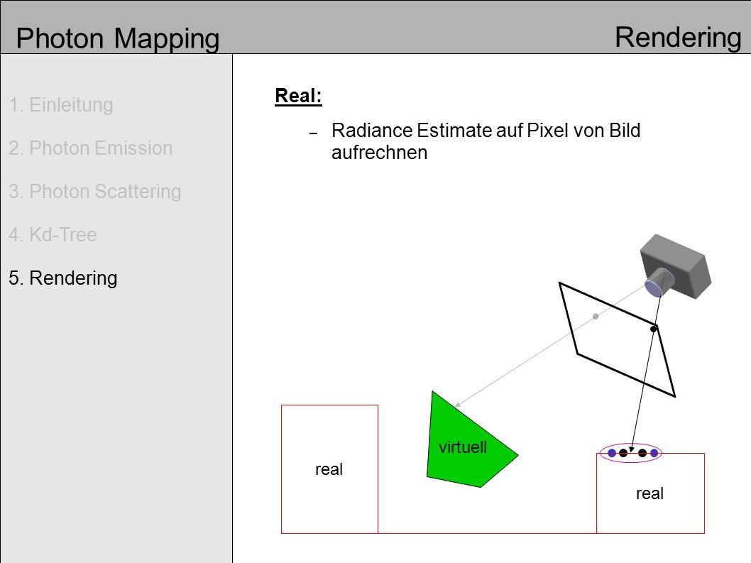 Photon Mapping Real: – Radiance Estimate auf Pixel von Bild aufrechnen 1.