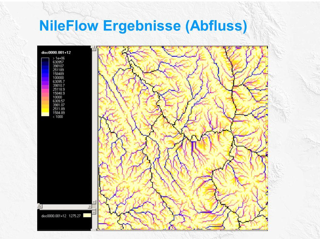 NileFlow Ergebnisse (Abfluss) Discharge XC
