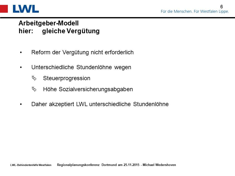 LWL-Behindertenhilfe Westfalen Schnellere Bescheid-Erteilung durch LWL 7 Regionalplanungskonferenz Dortmund am 25.11.2015 - Michael Wedershoven LWL ist bestrebt, Bearbeitungszeiten zu reduzieren Mehr Personal Elektronische Akte Aktuell -4 – 6 Wochen bis zur Einladung HPK -ca.