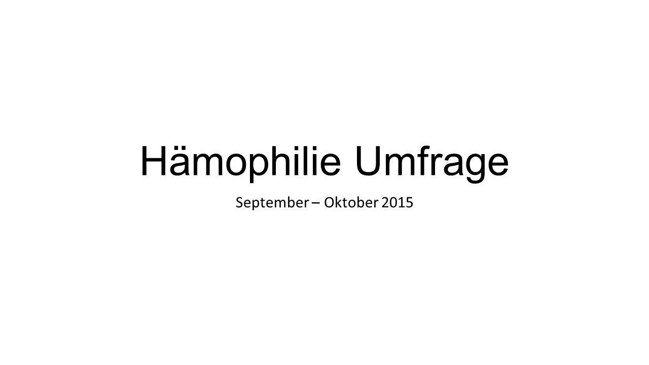 Hämophilie Umfrage September – Oktober 2015