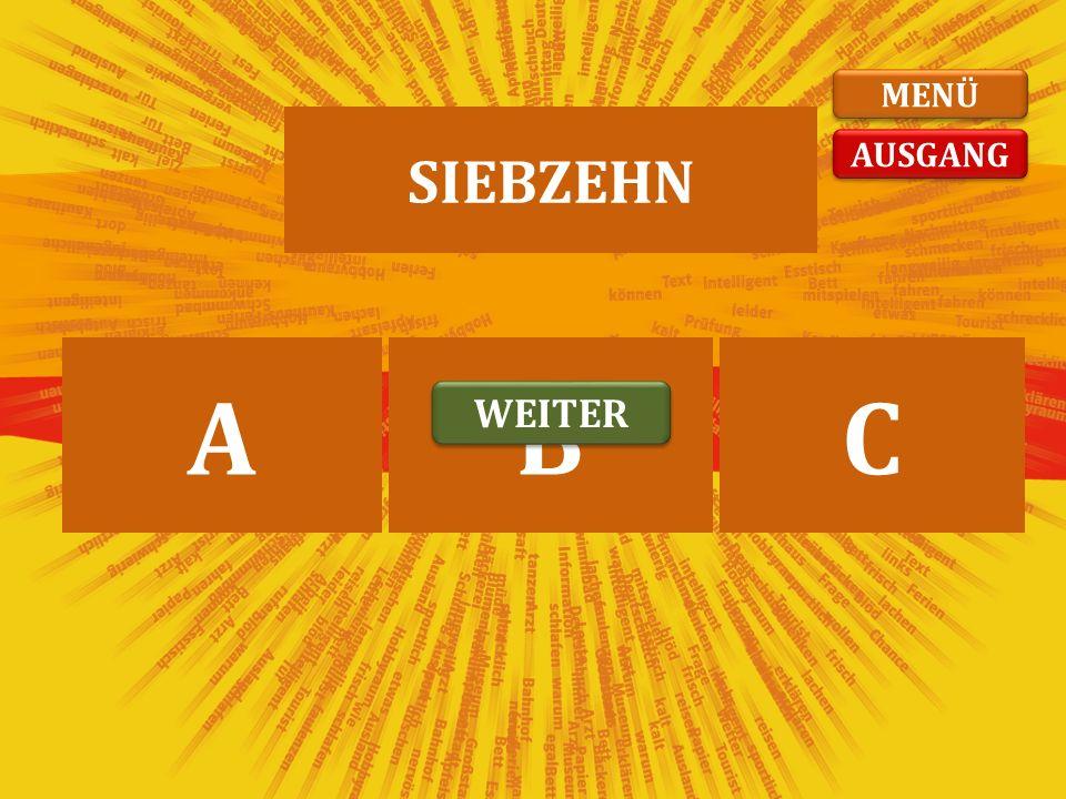 ЧЕТРНАЕСТ СЕДАМНАЕСТШЕСНАЕСТ ABC VIERZEHN WEITER AUSGANG MENÜ